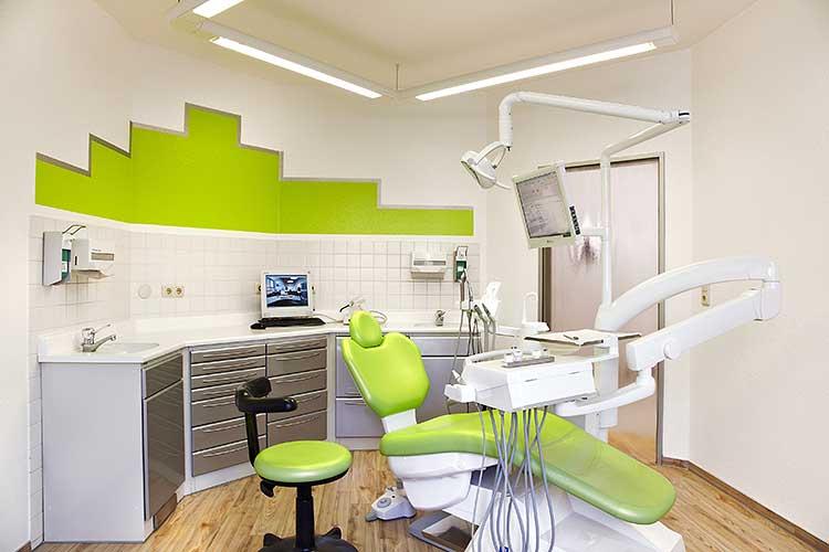 Behandlungsraum der Zahnarztpraxis Dres. Siekmann in Celle